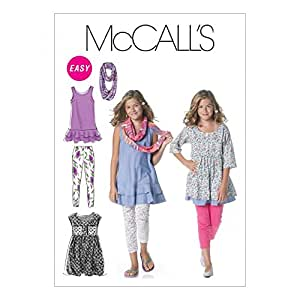 McCalls Patron de Couture 6275filles Casual Wear Tailles: 7–8, 10–12, 14