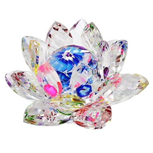 Flor de loto de cristal Feng Shui – Cadena pulsera roja W Mxsabrina,