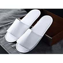 10 paia di pantofole in spugna bianche da hotel a punta aperta usa e getta 9d77b045f1c
