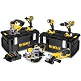 DeWalt DCK694M3 18V Brushless Kit 3 x 4.0A Batteries Charger and 2 x DS300 Kitboxes (6 Pieces)