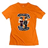 KST Damen T-Shirt Dan Amazing Phil mit O-Ausschnitt Gr. 36, Orange