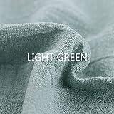 Youmu Lin Tissu de coton bio Matériau naturel pur lin batiste Eco DIY Vêtements, 129,5x 99,1cm, vert clair, 1 meter/51' x 39'
