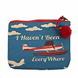 The Crazy Me I Haven't been Everywhere Makeup/Coin Pouch 15 by 12 cm (Small)