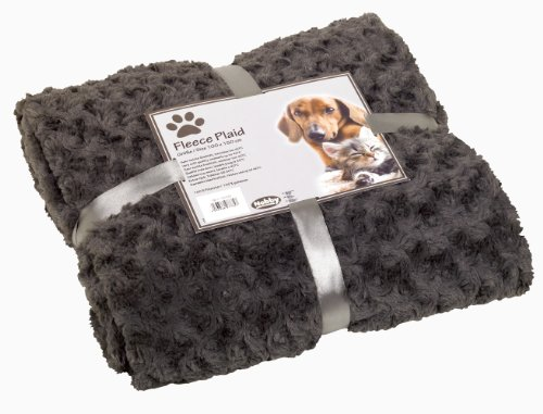 Nobby Kuscheldecke Fleece Plaid Super Soft, 100 x 150 cm, grau