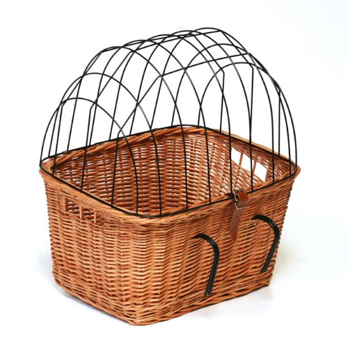 Prestige Wicker Pet Carrier Bicycle Basket
