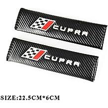 Almohadillas de fibra de carbono para cinturón de seguridad de estilo Racing para Seat Cupra.