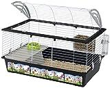 Ferplast Casita 100Dekorierter Käfig für Kaninchen weiß/schwarz