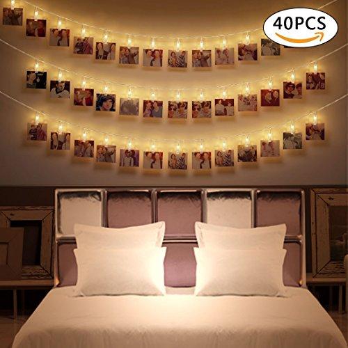 chterkette, Wanxida 4,2M Batteriebetriebene Warmweiß 2 Lichtmodus Dekoration für Schlafzimmer & zum Valentinstag [Energieklasse A+++] (Lichter Für Die Dekoration)