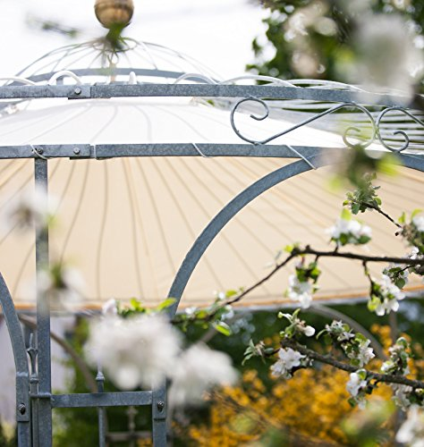 ELEO Florenz runder Gartenpavillon aus Metall mit Sonnensegel, Ø 3,7 Meter (Oberfläche: feuerverzinkt) - 3