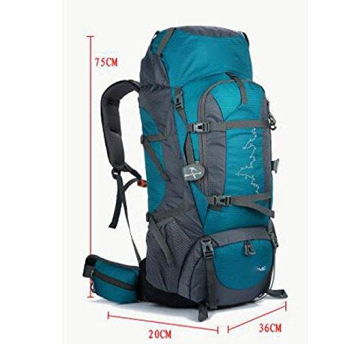 Zaino Zaino Escursioni Outdoor 80L Viaggiare Casual Daypack Borse Ad Alta Capacità,LakeBlue LakeBlue