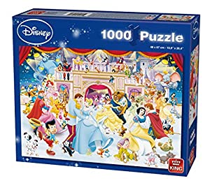 King Disney Holiday on Ice 1000 pcs 1000pieza(s) - Rompecabezas (Jigsaw puzzle, Dibujos, Niños, Disney, Multiproperty, Princesses, Mickey Mouse, Winnie the Pooh, Peter Pan, Aristocats, 101 Dalmatiers, Niño/niña)