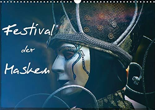 Festival der Masken (Wandkalender 2020 DIN A3 quer): Kunstvolle venezianische Masken (Monatskalender, 14 Seiten ) (CALVENDO ()