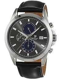 Time Piece Herren-Armbanduhr Classic Chronograph Quarz Leder TPGS-20177-21L