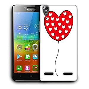 Snoogg Red Heart Balloons Designer Protective Phone Back Case Cover For Lenovo A6000 Plus
