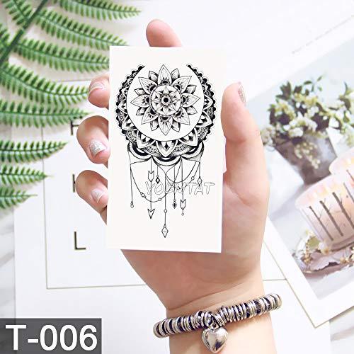 5 Stücke-Libelle schlüsselmuster Tattoo Tattoo Aufkleber Blume Tattoo mit Mode Body Art Tattoo Aufkleber Tattoo 5 Stücke- -
