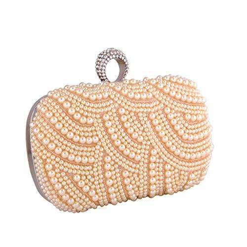 BigForest Fashion Clutch Perlen Beaded Clutch Brauttasche Unterarmtasche Party Hochzeit Abendtasche champine Champine