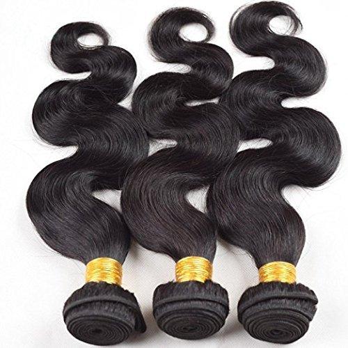 haafee® 7 Une couleur Noir naturel Hair Body Wave Extensions cheveux Humains brésiliens vierges non Transformés pour femme 12 14 16 Pouces