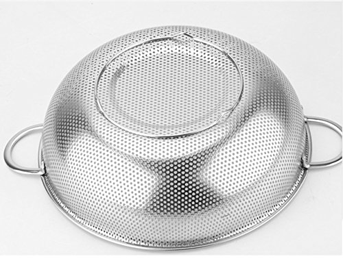 rykey Edelstahl Sieb–mikroperforierten Teesieb, Edelstahl Küche Sieb mit feinem Mesh 28,5cm breit silber - 2