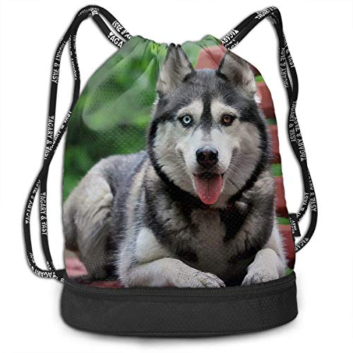Bolsas de cuerdas,Bolsas de gimnasia,Mochilas tipo Casual, Funny Dance Gift Unisex Drawstring Fashion Beam Backpack Cute Wolfhound Print Backpack Travel Gym Tote Cosmetic Bag