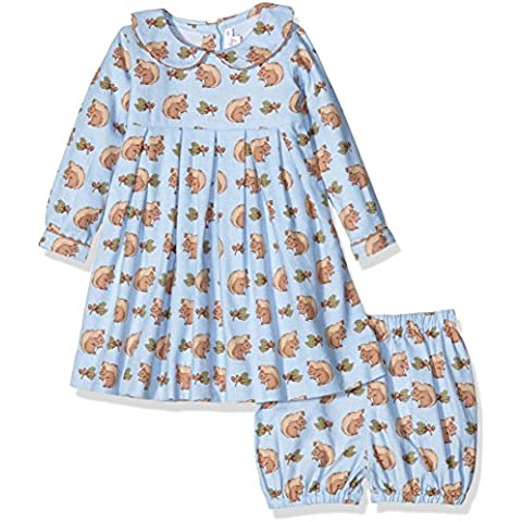 Rachel Riley Squirrel Flannel Dress & Bloomers, Vestito Bimbo