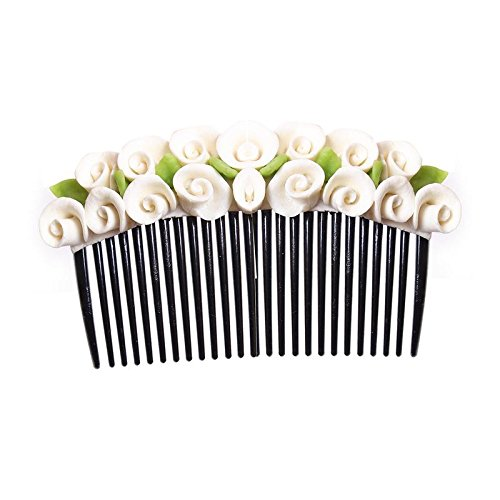 unique indian craft Hair Combpin/MulticolorProcelain Dough Hairpin comb /Girls Hair Accessories /Fashionable...