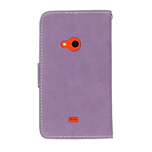 Solid Color Premium PU-Leder Tasche Cover matt Retro Flip-Ständer Case Wallet Fall mit Kartensteckplätze Photo Frames für Nokia Microsoft Lumia 625 ( Color : 2 ) 8