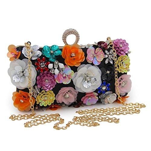 Zhhlaixing bellissime borse Multicolor Unique Flowers Beads Embroidery Evening Buns Handbags Designer Bags Handbags Bride Pack per Donne White