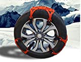 GEARS PANDA chaînes de pneu 6 PCs, accessoires universels de pneu chaînes anti-dérapantes chaîne de roue pour des voitures, véhicule, SUV