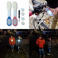 Luce di Sicurezza Tiiwee LED Luminosi per la vita all'Aria Aperta a Piedi, in Bicicletta e Trekking – Clip Magnetica - Batterie di Ricambio incluse – LED Bianco e Rosso – Set di 2
