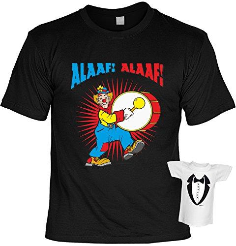 Faschings/Karnevals/Spaß/Fun/Party-Shirt+ Mini-Shirt Rubrik lustige Sprüche: Alaaf! Alaaf! lässiger Look Schwarz