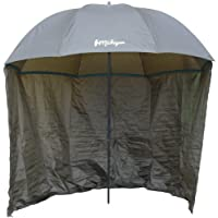 "Michigan Fishing Umbrella with Top Tilt and Sides Brolly Shelter with FREE Carry Bag, Olive Green, 50"", 60"", 75"" or 86"" 2"