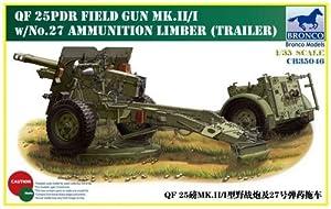 Unbekannt Bronco Models cb35046-Maqueta de qf-2825pdr Field Gun MK.II/i