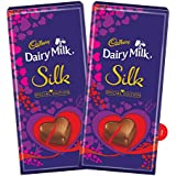 Cadbury Dairy Milk Silk Valentine Special Edition Gift Pack, 250g (Pack Of 2)