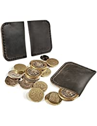 Tuff-Luv Véritable 'Western' rustique poche de pièce de monnaie - Brun