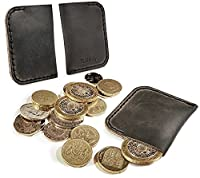 Tuff-Luv Genuine 'Western' Leather rustic coin pouch - Brown