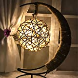 Yaojiaju LED-Lampe, Retro Style gelbe Farbe leuchtet LED Twine Kupfer Runde Ball für Festival Beleuchtung Schlafzimmer (1pcs) LED