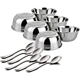 King International Stainless Steel Dinner Set Of 12 Pieces Including 6 Spoon, 6 Bowls