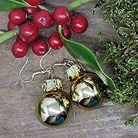 Weihnachtsohrhänger in GOLD glänzend - der Topseller vom Hamburger Weihnachtsmarkt!