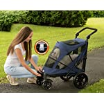 Pet Gear No-Zip Excursion Zipperless Entry Pet Stroller for Single or Multiple Pets, Candy Red 9