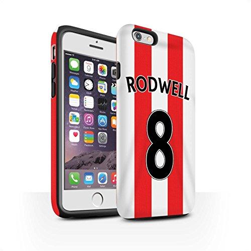 Offiziell Sunderland AFC Hülle / Matte Harten Stoßfest Case für Apple iPhone 6S / Pack 24pcs Muster / SAFC Trikot Home 15/16 Kollektion Rodwell