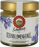 Bio Honig, deutscher Kornblumenhonig, beste Qualität aus Deutschland, feincremig, leuchtend gelb, leicht grünlich schimmernd, kräftig aromatisch, 250g, Schellartz Bio