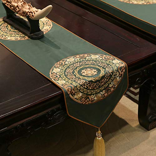 JUNYZZQ Tischläufer Tischläufer Neue Chinesische Tischfahne Mahagoni Wohnzimmer Tischdecke Klassisch Bestickten Esstisch Tv Schrank Couchtisch Bettfahne, 35X180 cm -