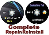 Picture Of WINDOWS 7 Professional x32/32 bit Repair/Recovery/Restore Boot Disc ~Fix PC~ Complete w/Updated Drivers Disc for Windows and your PC/Laptop/Desktop ~Full Support Included~ SATISFACTION GUARANTEED or YOUR MONEY BACK!!!