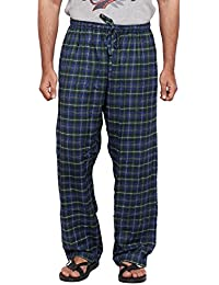 Twist Men's Green And Blue Checked 100% Cotton Pyjama Sleepwear Night Wear With Contrast & Free Shipping