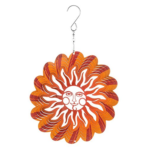 Schöne Metall Wind Spinner Sun Catcher zum Aufhängen Garten Ornament Sunburst 15,2cm (Sunburst Spinner)