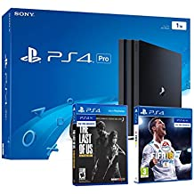 PS4 PRO 1TB Playstation 4 - PACK 2 Juegos 4K - FIFA 18 + The Last Of Us: Remastered