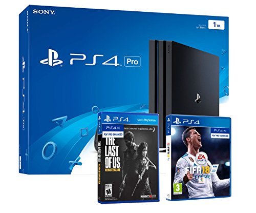 Playstation 4 Konsole PS4 PRO 1Tb - 4K - FIFA 18 + The Last Of Us: Remastered - Last Of Ps4 Remastered Us