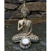 Buda sentado portavelas), diseño de Estatua de jardín interior exterior