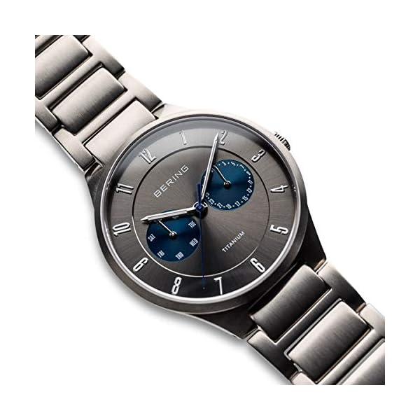 BERING Reloj Analógico para Hombre de Cuarzo con Correa en Titanio 11539-777