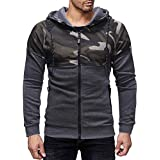 Ieason Men Top, Men's Autumn Winter Patchwork Pocket Camouflage Long Sleeve Hoodie Top Blouse